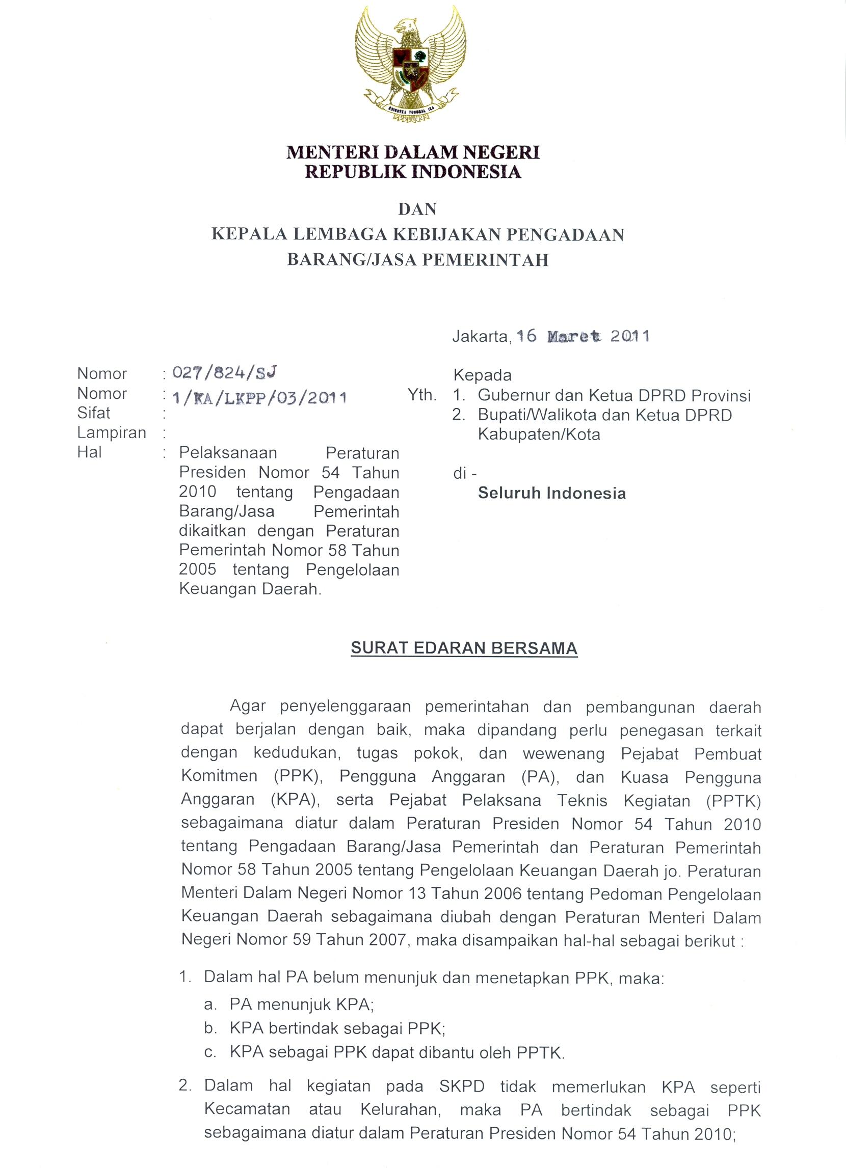 Pengadaan Barang/Jasa Pemerintah: March 2012